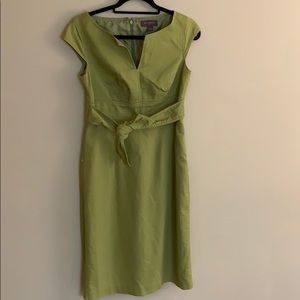 Bright green Liz Claiborne dress vtg